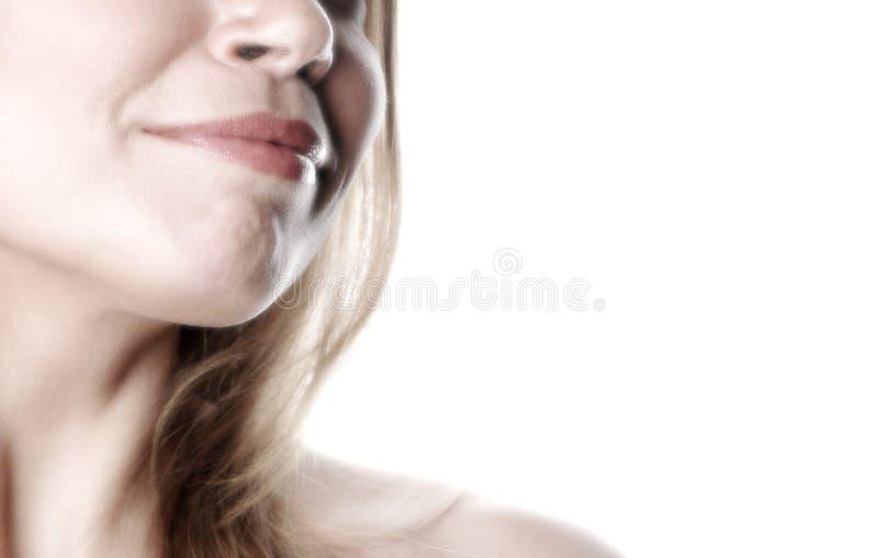 Teilweise Frau face-13 lizenzfreie stockfotografie
