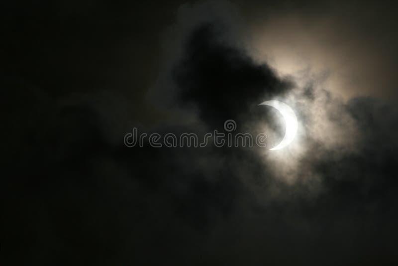 Teilweise Solareklipse 26. Januar 2009 stockfotos