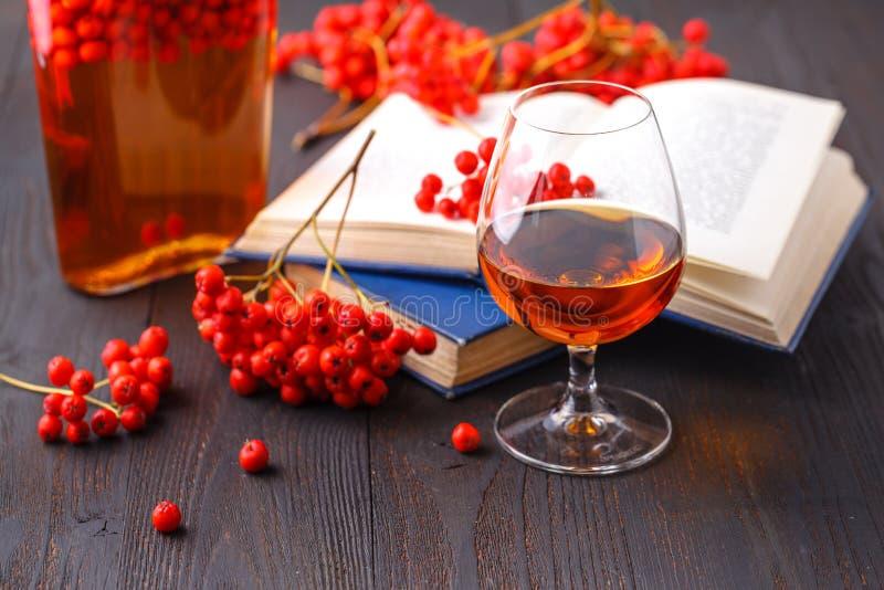 Teinture naturelle de sorbe pour l'hiver, avec les fruits ashberry photographie stock libre de droits