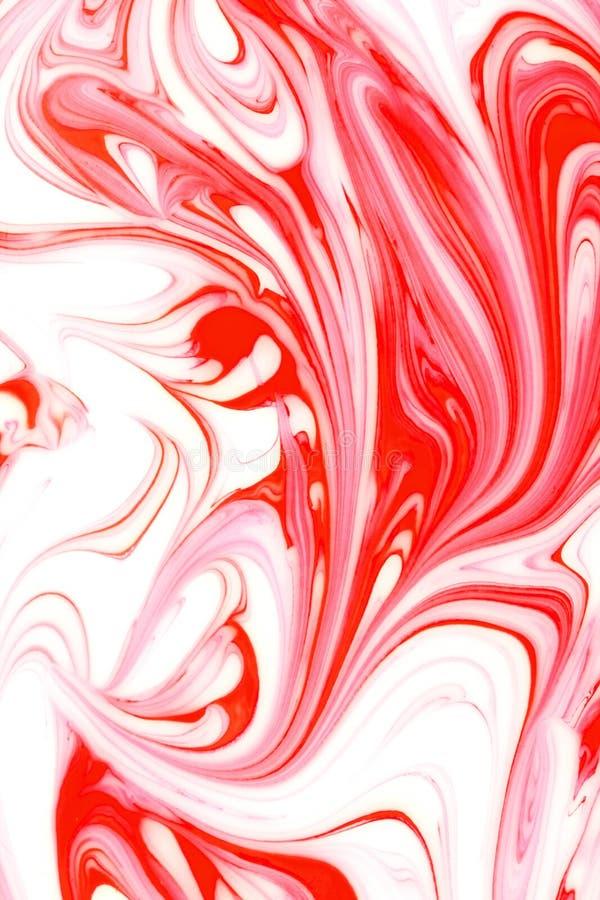 Teinture rouge coulant la configuration   images libres de droits