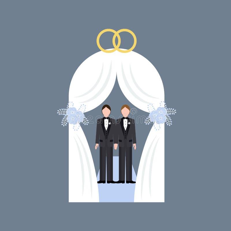 Tej samej płci ślub ilustracja wektor
