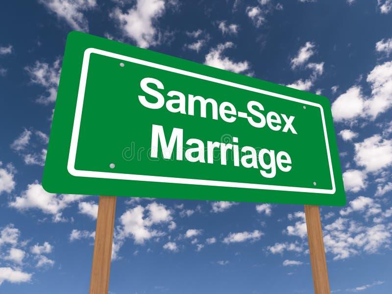 Tej samej płci małżeństwa znak ilustracja wektor