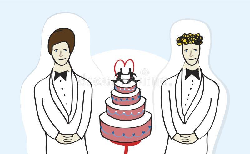 Tej samej płci małżeństwo ilustracja wektor