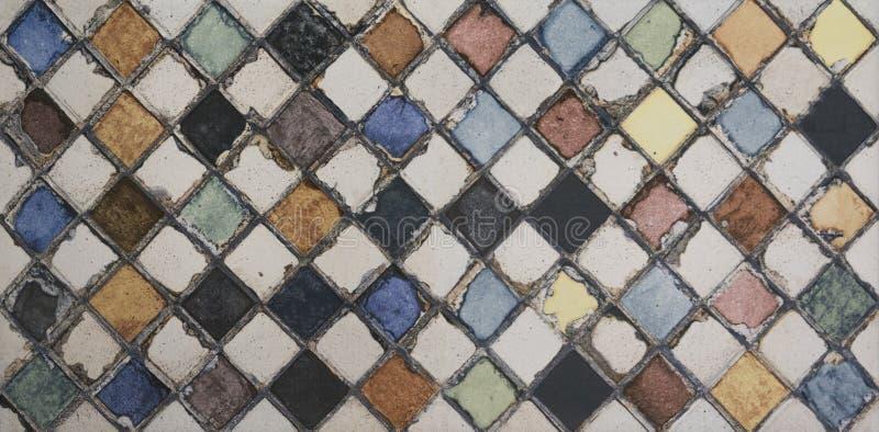 Teja de mosaico de la acuarela fotografía de archivo