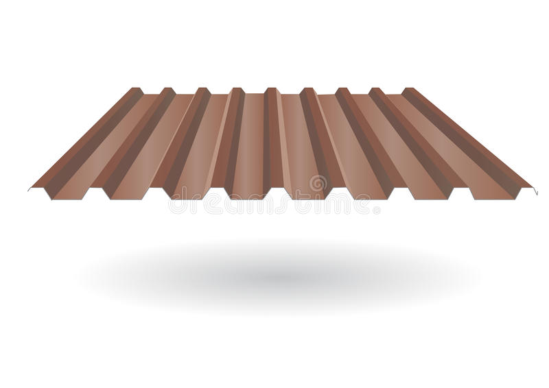 Teja de tejado acanalada stock de ilustración