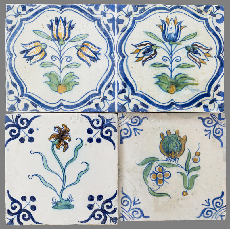 Teja holandesa del décimosexto al siglo XVIII imágenes de archivo libres de regalías