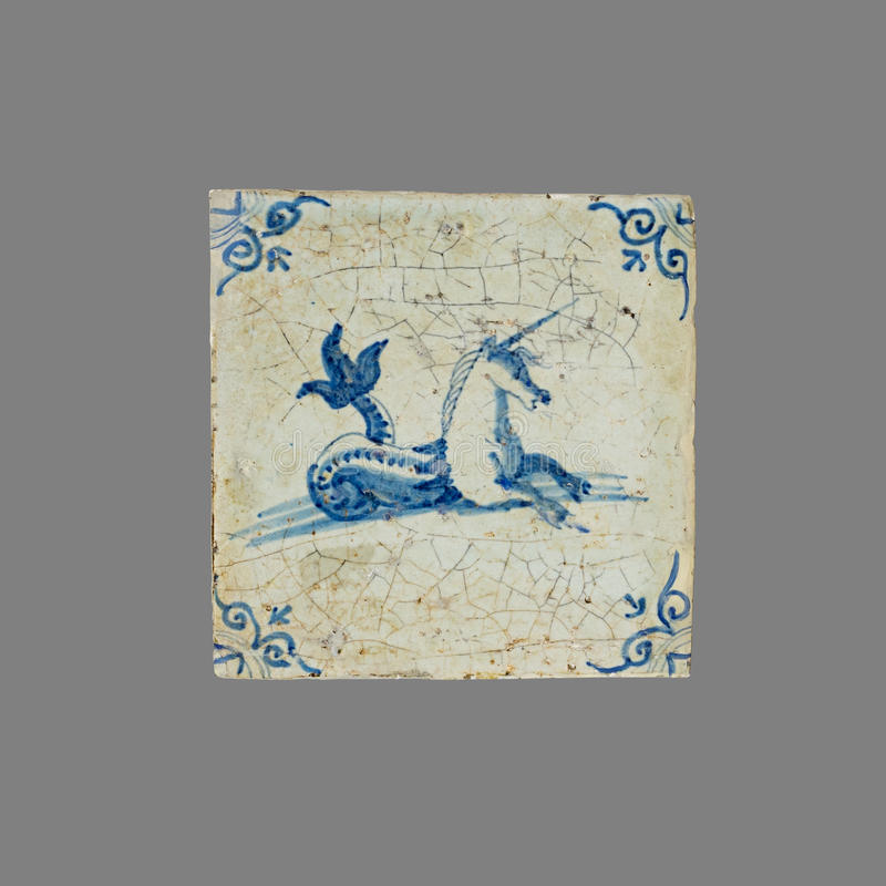 Teja holandesa del décimosexto al siglo XVIII foto de archivo