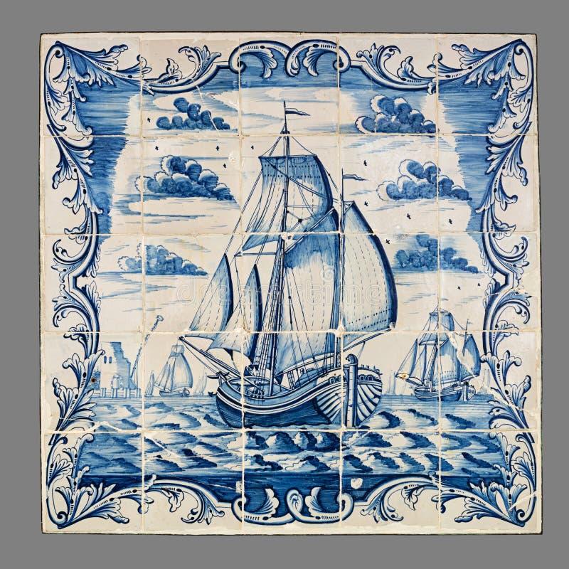 Teja holandesa del décimosexto al siglo XVIII fotografía de archivo