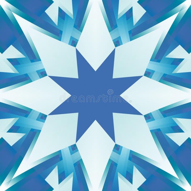 Teja inconsútil cuadrada en sombras del azul Textura abstracta pulida entonada frío Modelo de estrella de la impresión de la mate ilustración del vector