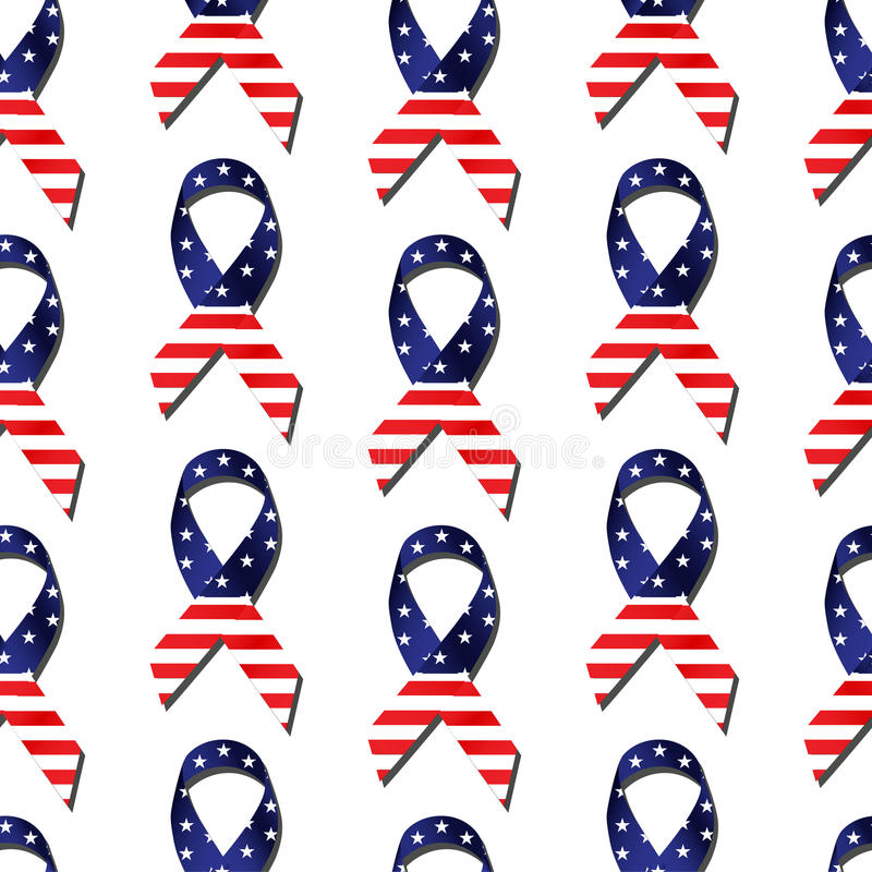 Teja inconsútil de la cinta de la bandera americana libre illustration