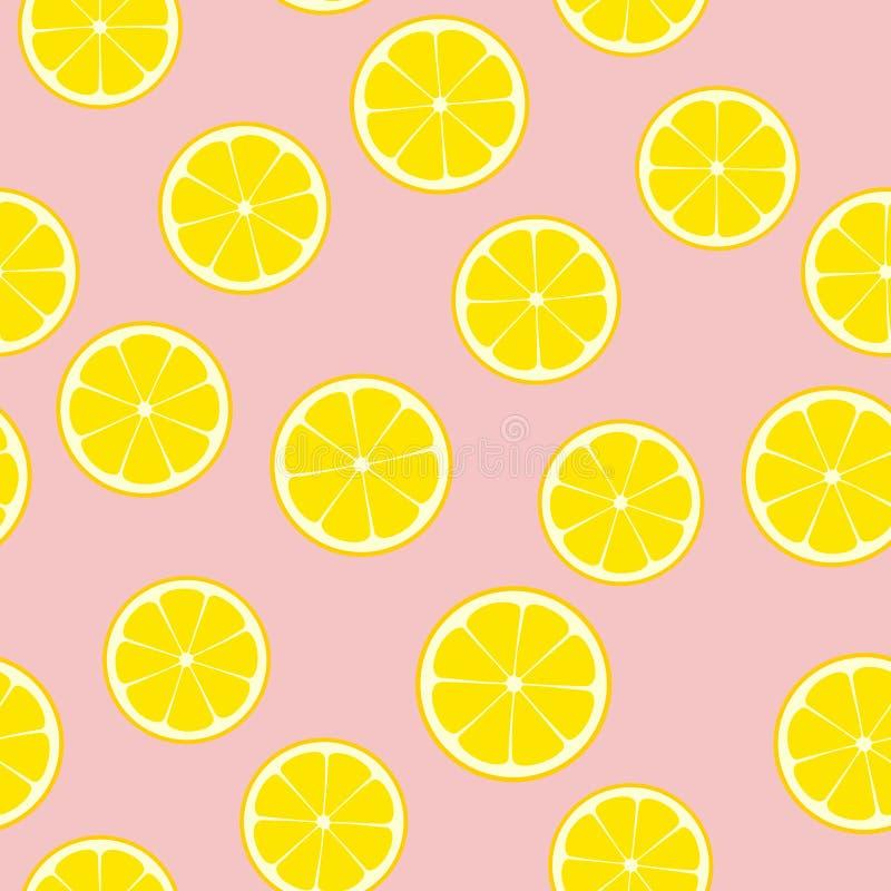 Teja inconsútil del modelo del vector de la limonada rosada ilustración del vector