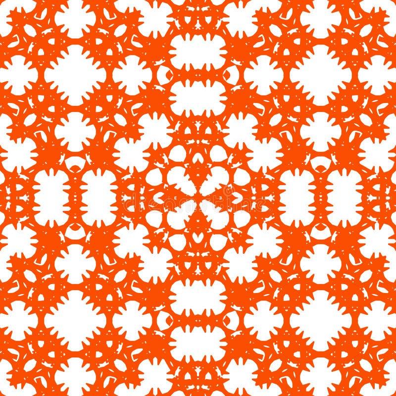 Teja incons?til Ornamento en color coralino rojo Teja para el piso, techo, pared, cuarto de baño stock de ilustración