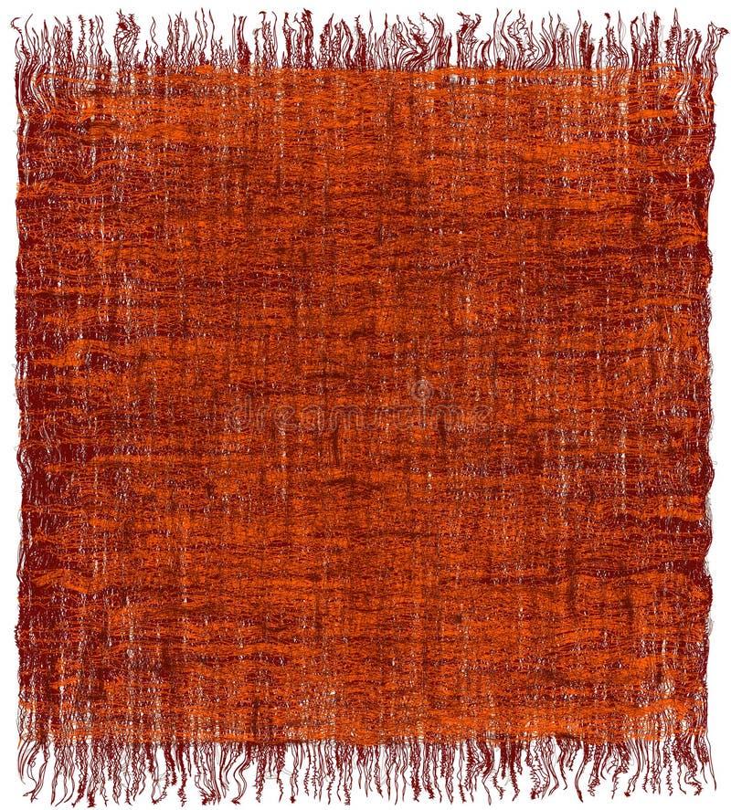 Teja la alfombra entrelazada rayada grunge con la franja en la naranja, marrón stock de ilustración