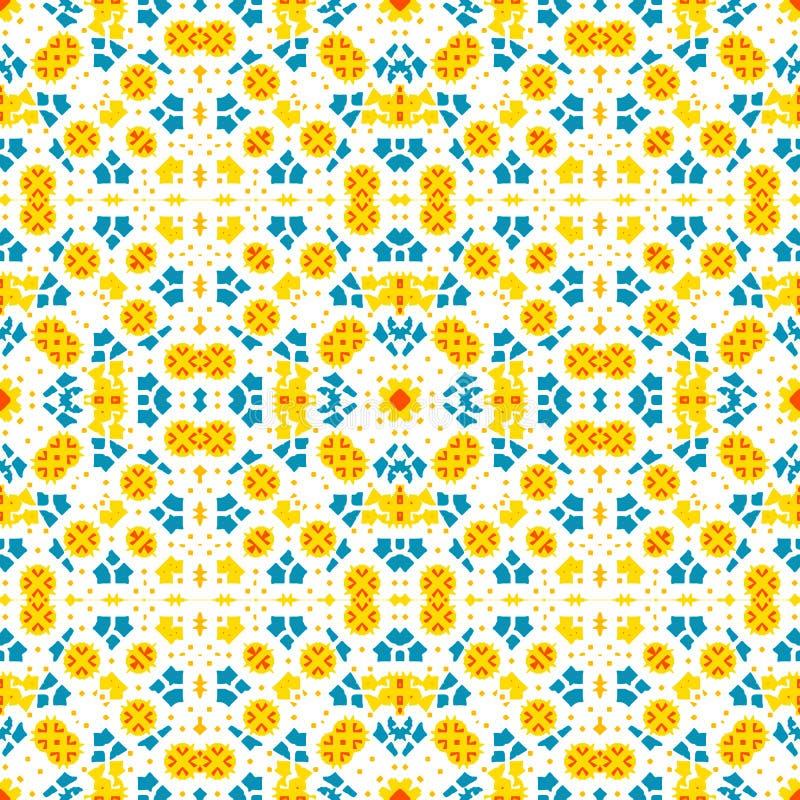 Teja marroquí - ornamento inconsútil en el fondo blanco ilustración del vector