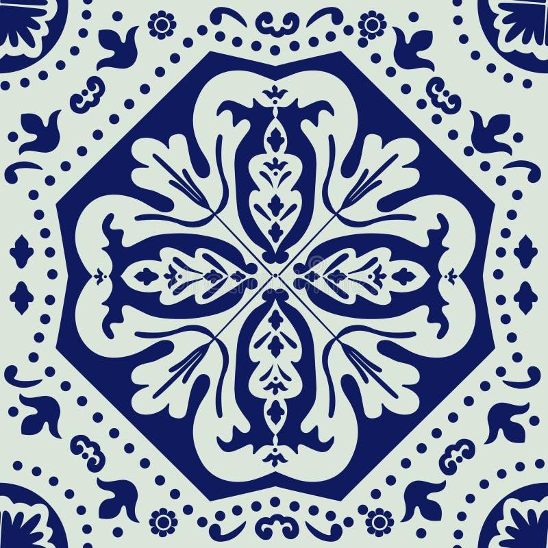 Teja portuguesa del azulejo ilustración del vector