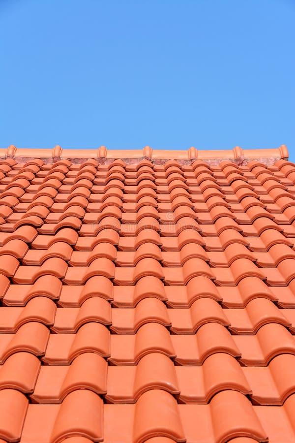 Teja roja de la textura del tejado fotos de archivo libres de regalías