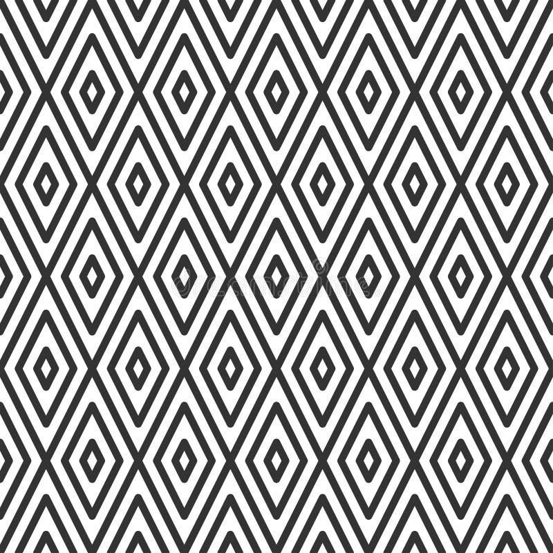 Teja rombal modelo inconsútil geométrico ilustración del vector