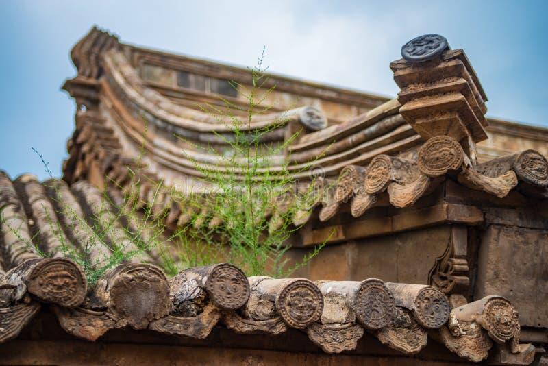 Tejado antiguo chino fotografía de archivo