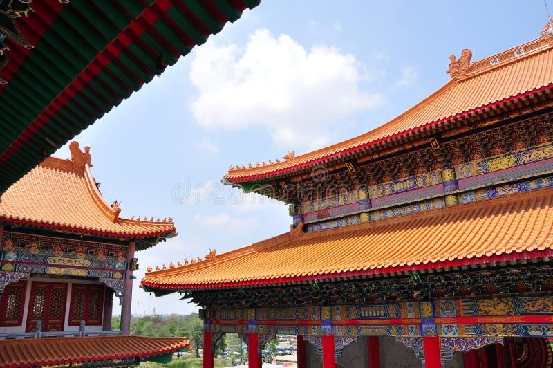 Tejado de la casa de ídolo chino foto de archivo