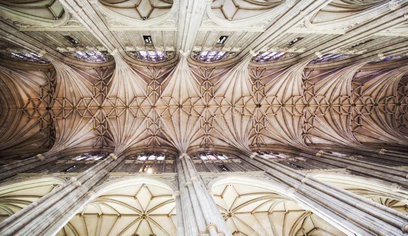 Tejado de la catedral de Cantorbery fotografía de archivo