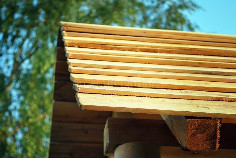Tejado de madera imagen de archivo libre de regalías