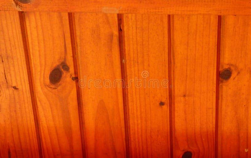Tejado de madera barnizado imagen de archivo