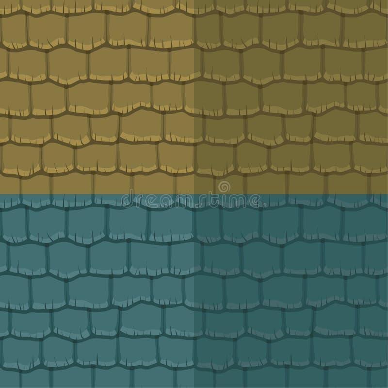 Tejado de pizarra inconsútil de la textura Ilustración del vector Modelo de la arquitectura libre illustration