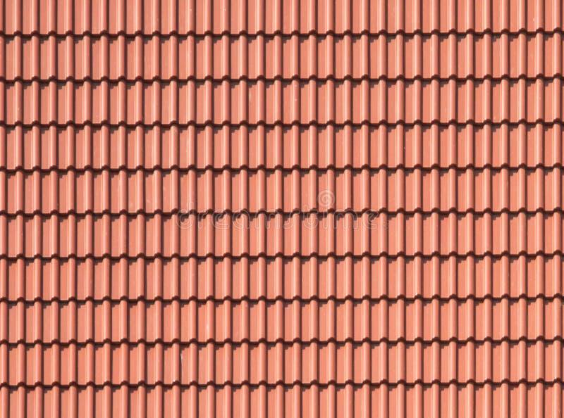 Tejado de tejas del fondo, marrón, de tierra, color de la arcilla fotografía de archivo