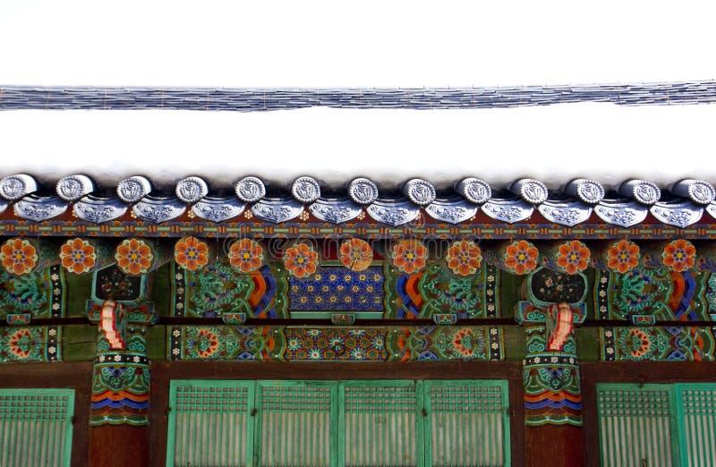 Tejado del templo foto de archivo