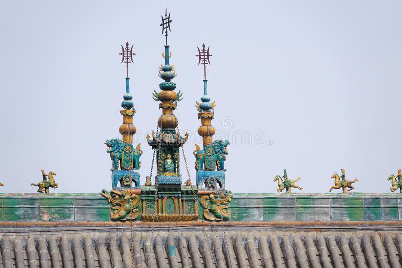 Tejado del templo fotos de archivo