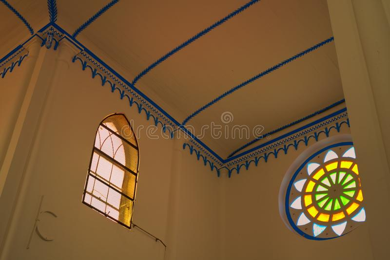 Tejado del transepto de la iglesia del santo Francis Xavier Melaka Malaysia fotografía de archivo libre de regalías