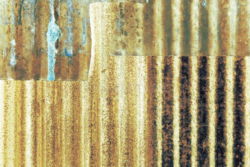 Tejado galvanizado extracto del hierro fotos de archivo