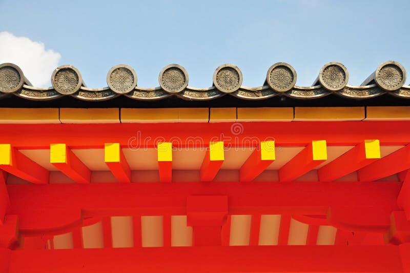 Tejado japonés del templo fotografía de archivo libre de regalías