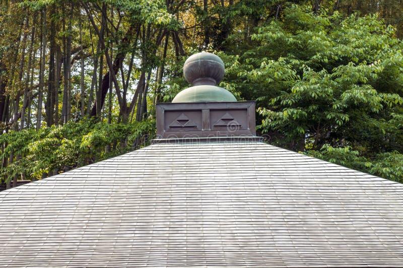 Tejado japonés del templo imagen de archivo libre de regalías