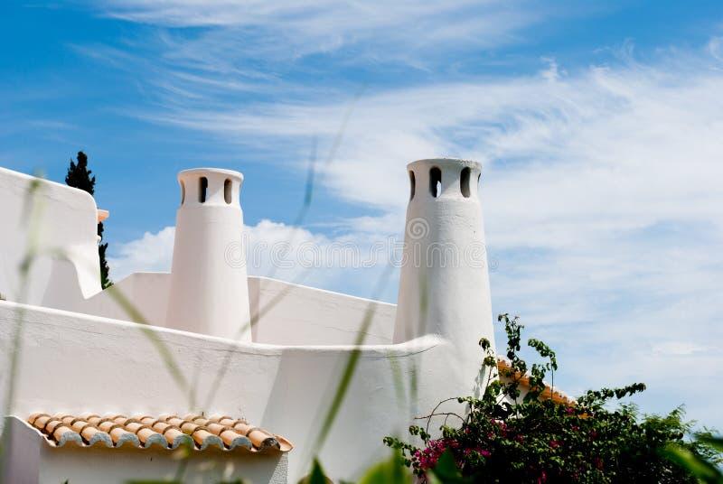Tejado portugués tradicional Algarve, sao Rafael imagenes de archivo