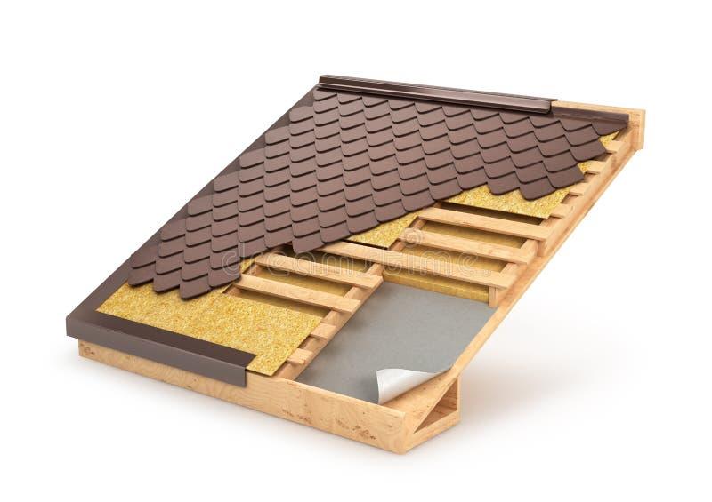 Tejado, teja, diseño y instalación del sistema del edificio, libre illustration