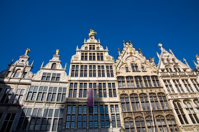 Tejados, Amberes, Bélgica fotografía de archivo libre de regalías