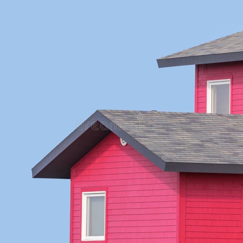 Tejados coloridos y cielo azul foto de archivo libre de regalías