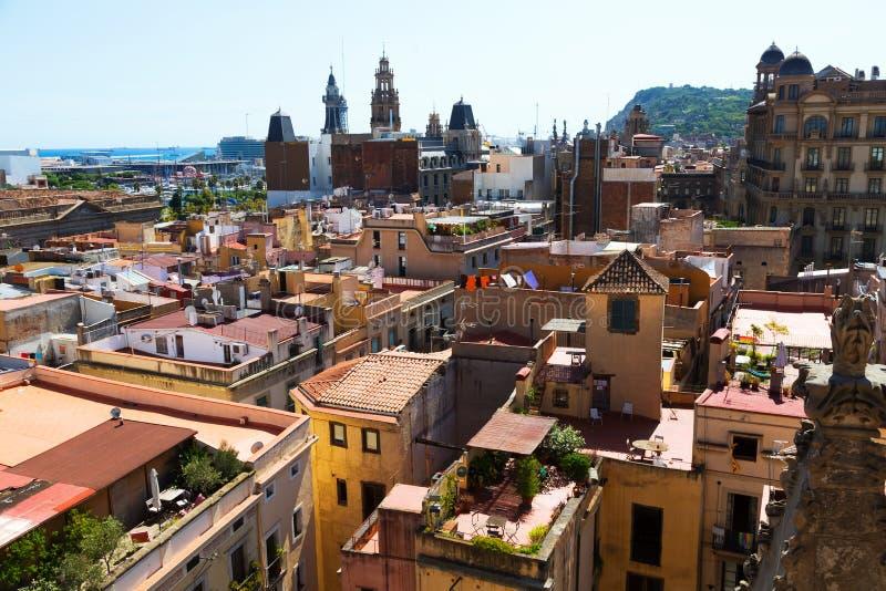 Tejados de Barcelona imágenes de archivo libres de regalías