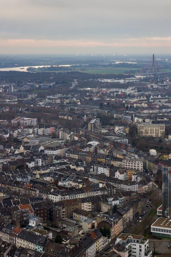 Tejados de Düsseldorf Alemania imagenes de archivo