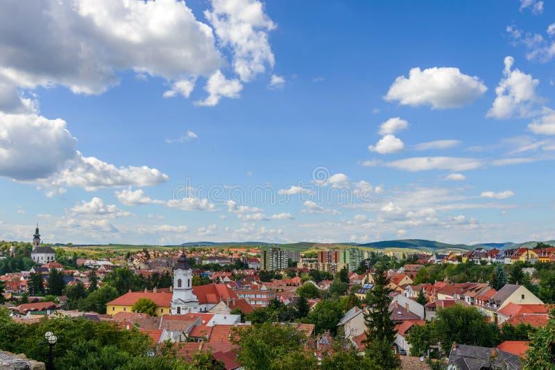 Tejados de Eger, Hungría fotografía de archivo