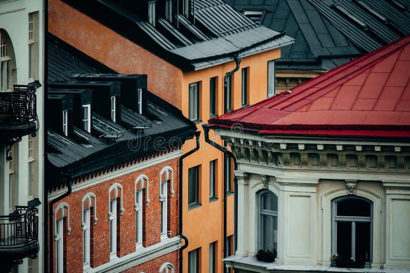 Tejados de Estocolmo imagenes de archivo