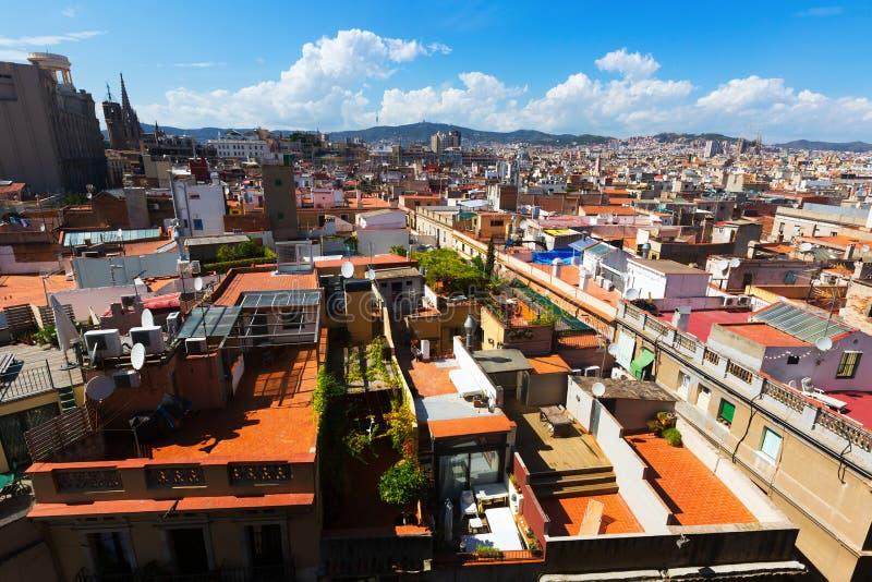 Tejados de la ciudad vieja - Barcelona fotografía de archivo