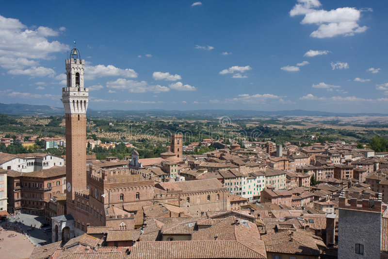 Download Tejados De La Tierra De Siena Imagen de archivo - Imagen de descripción, azotea: 7275397