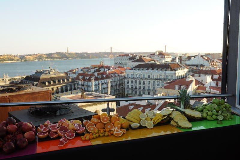 Tejados de Lisboa foto de archivo libre de regalías