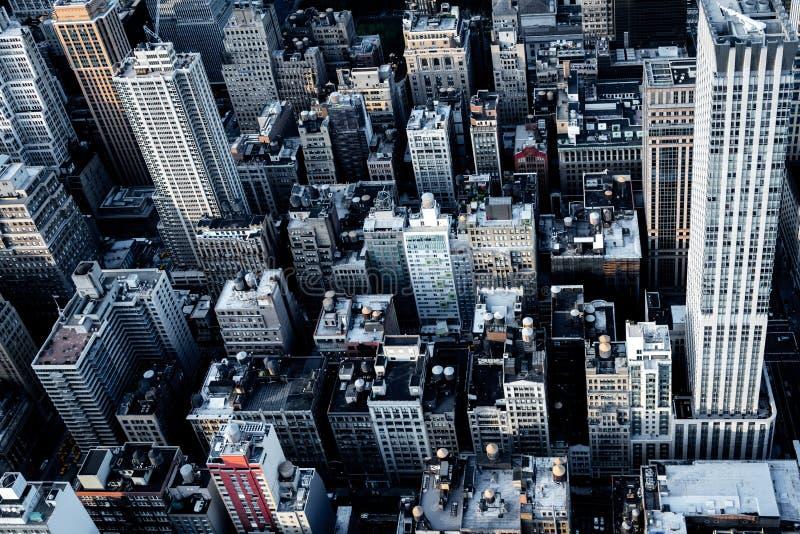 Tejados de New York City en Manhattan fotos de archivo libres de regalías