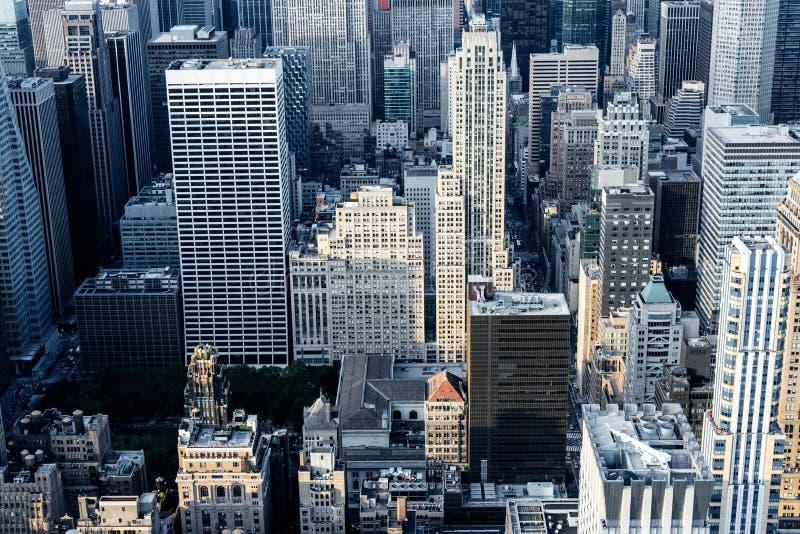 Tejados de New York City en Manhattan foto de archivo