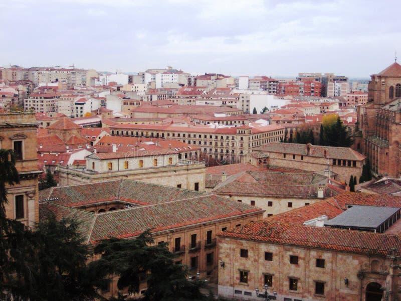 Tejados de Salamanca foto de archivo libre de regalías