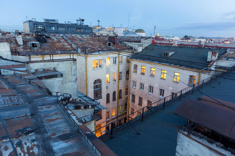 Tejados de St Petersburg fotos de archivo libres de regalías