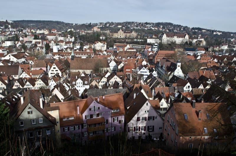 Tejados de Tubinga, la ciudad vieja Baden-Wurtemberg foto de archivo libre de regalías